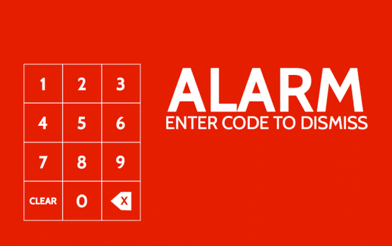 alarm enter code to dismiss
